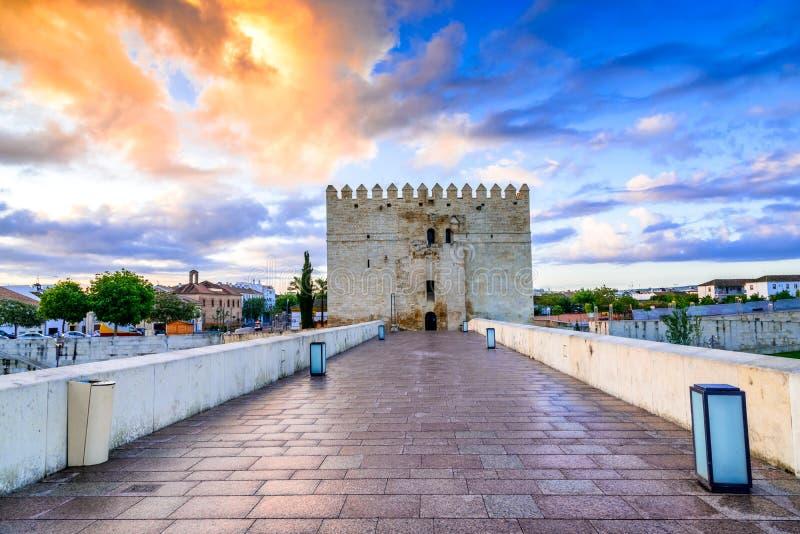 Κόρδοβα - ρωμαϊκή γέφυρα, Ανδαλουσία, Ισπανία στοκ εικόνα με δικαίωμα ελεύθερης χρήσης