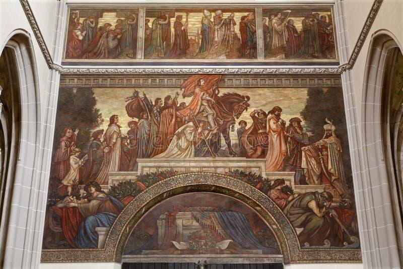 Κόσιτσε - νωπογραφία του κόμη Francis ΙΙ. Rákóczi στον καθεδρικό ναό Αγίου Elizabeth στοκ εικόνα