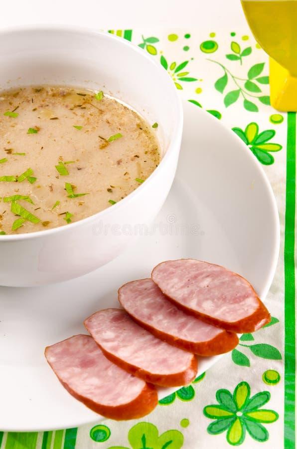 κόσμιη πολωνική σούπα στοκ εικόνες