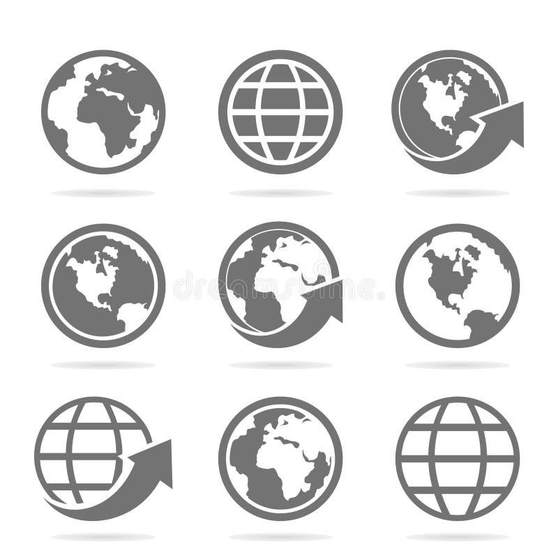 Κόσμος ένα εικονίδιο απεικόνιση αποθεμάτων