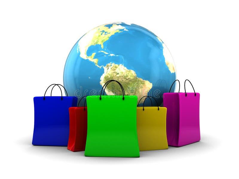 κόσμος αγορών ελεύθερη απεικόνιση δικαιώματος