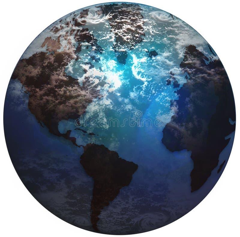 κόσμος γήινων σφαιρών διανυσματική απεικόνιση