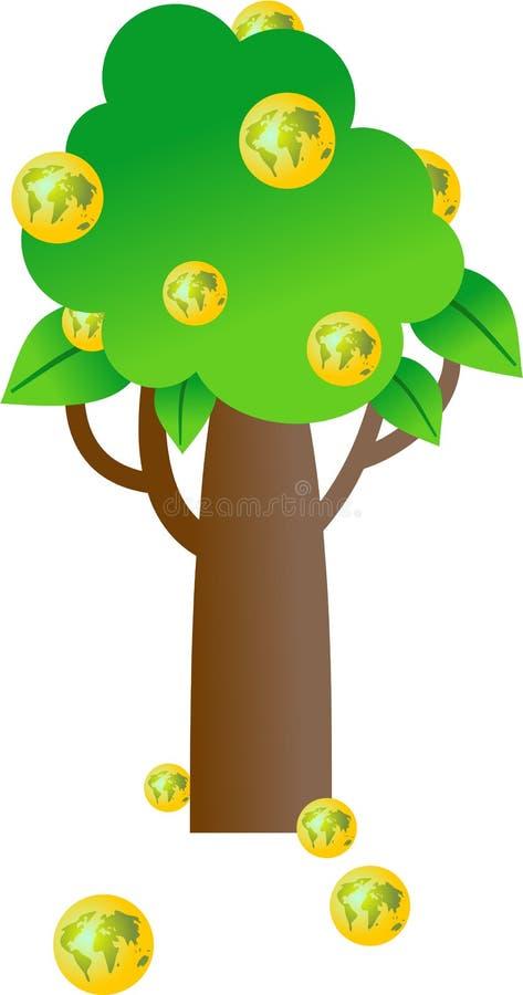 κόσμος δέντρων διανυσματική απεικόνιση