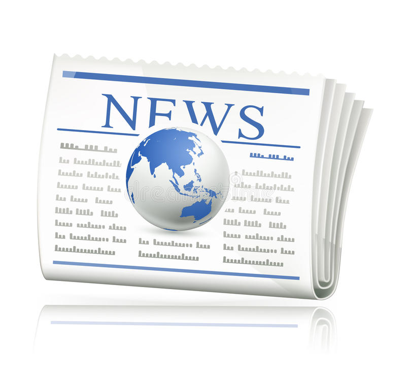 κόσμος ειδήσεων απεικόνιση αποθεμάτων
