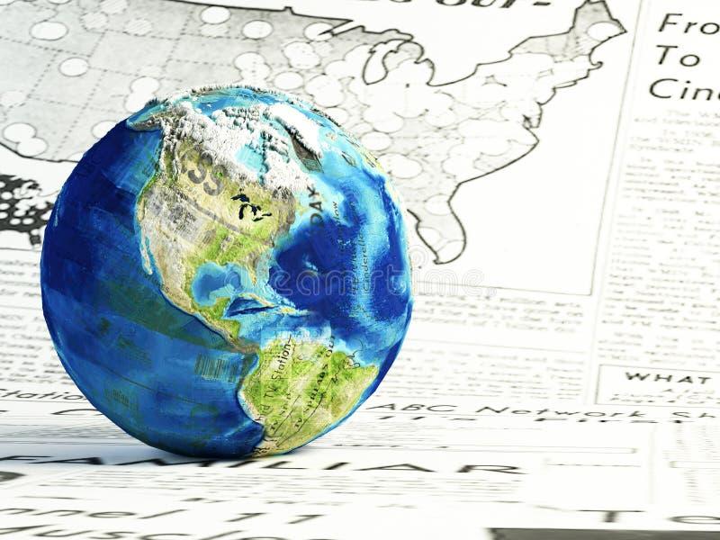 κόσμος ειδήσεων διανυσματική απεικόνιση