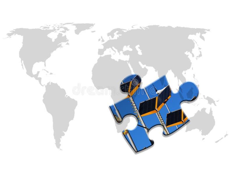 κόσμος ενεργειακών γρίφ&omega διανυσματική απεικόνιση