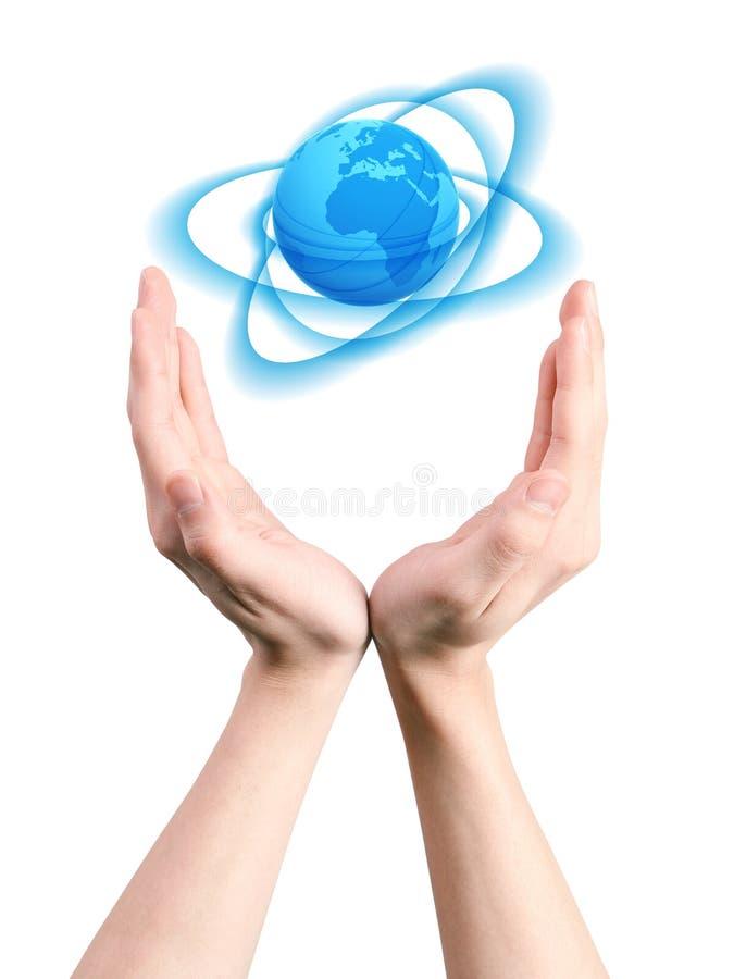 κόσμος ιχνών χεριών στοκ εικόνες