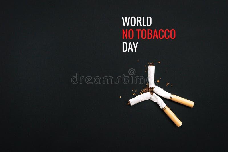 Κόσμος καμία ημέρα καπνών 31 Μαΐου ημέρα απαγόρευσης του καπνίσματος Δηλητήριο του τσιγάρου στοκ εικόνα με δικαίωμα ελεύθερης χρήσης