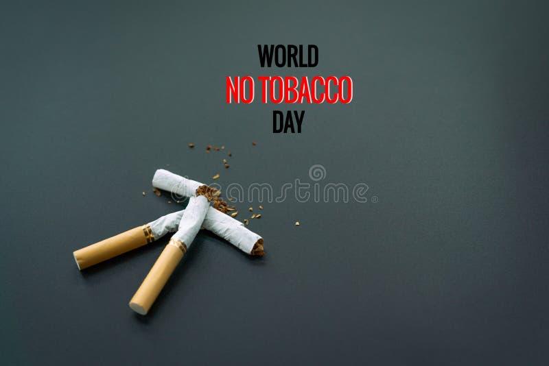 Κόσμος καμία ημέρα καπνών 31 Μαΐου ημέρα απαγόρευσης του καπνίσματος Δηλητήριο του cigaretWorld καμία ημέρα καπνών 31 Μαΐου ημέρα στοκ φωτογραφία