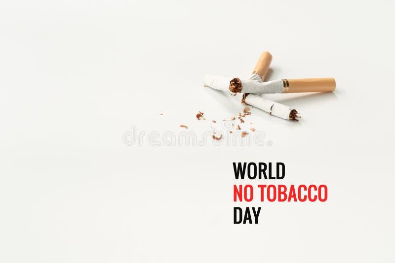 Κόσμος καμία ημέρα καπνών 31 Μαΐου ημέρα απαγόρευσης του καπνίσματος Δηλητήριο του τσιγάρου στοκ φωτογραφίες