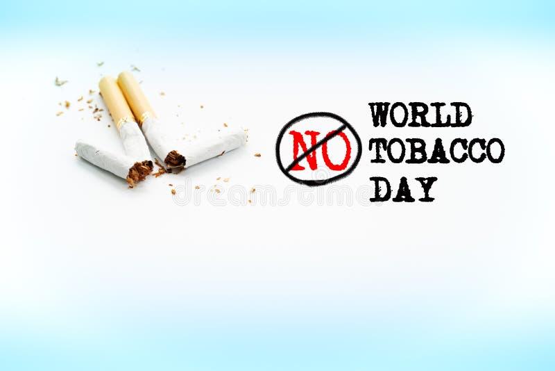Κόσμος καμία ημέρα καπνών 31 Μαΐου ημέρα απαγόρευσης του καπνίσματος Δηλητήριο του τσιγάρου στοκ φωτογραφία με δικαίωμα ελεύθερης χρήσης