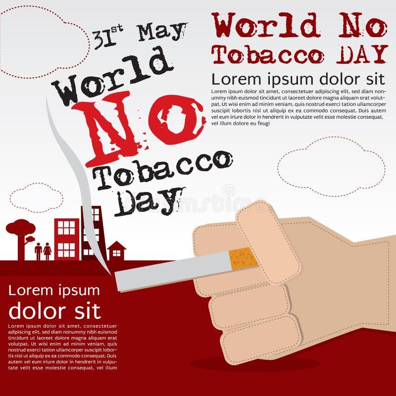 Κόσμος καμία ημέρα καπνών. διανυσματική απεικόνιση