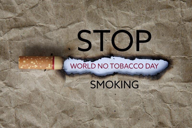 Κόσμος καμία ημέρα καπνών στοκ φωτογραφία με δικαίωμα ελεύθερης χρήσης