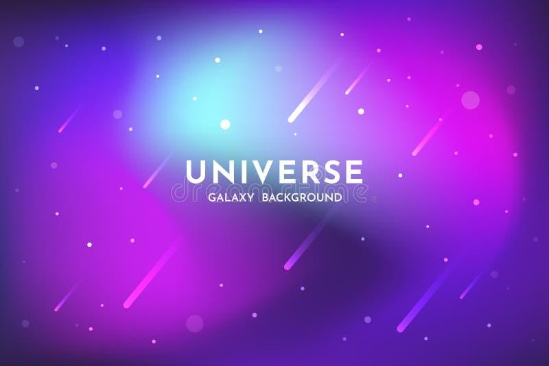 Υπόβαθρο μακρινού διαστήματος Κόσμος, καμμένος πρότυπο σκηνικού γαλαξιών αφηρημένο διανυσματική απεικόνιση