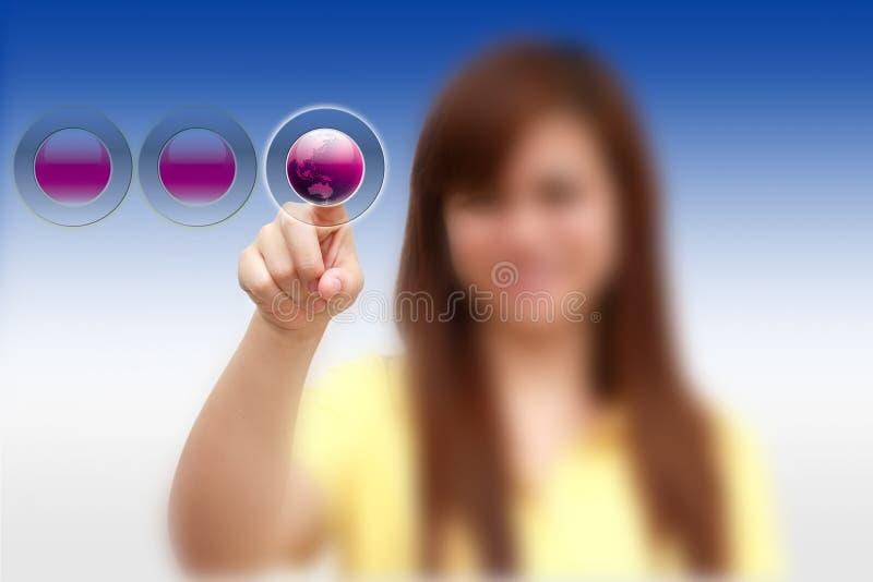 κόσμος κουμπιών στοκ εικόνες