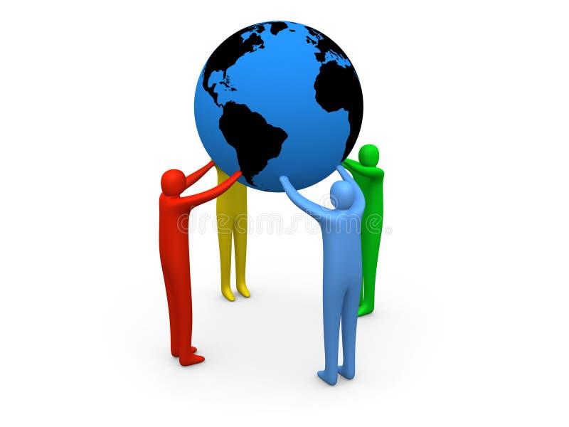 Download κόσμος λαβής απεικόνιση αποθεμάτων. εικονογραφία από ομάδα - 1547518