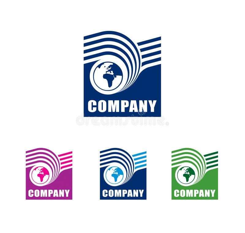 κόσμος λογότυπων διανυσματική απεικόνιση