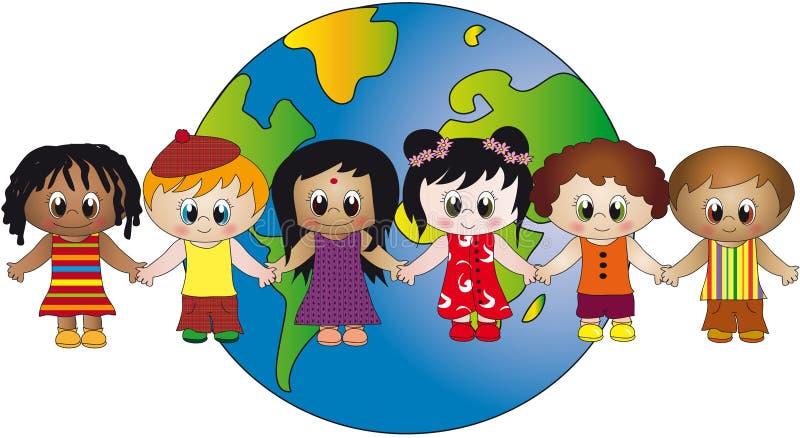 κόσμος παιδιών απεικόνιση αποθεμάτων