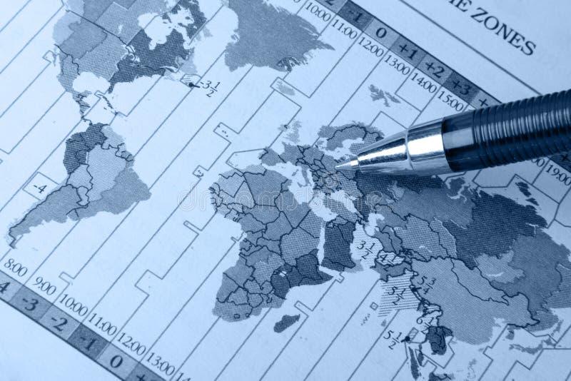 κόσμος πεννών χαρτών στοκ εικόνα με δικαίωμα ελεύθερης χρήσης
