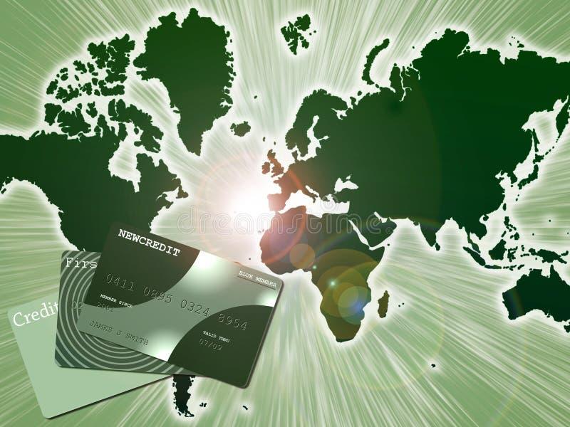 Κόσμος πιστωτικών καρτών ελεύθερη απεικόνιση δικαιώματος