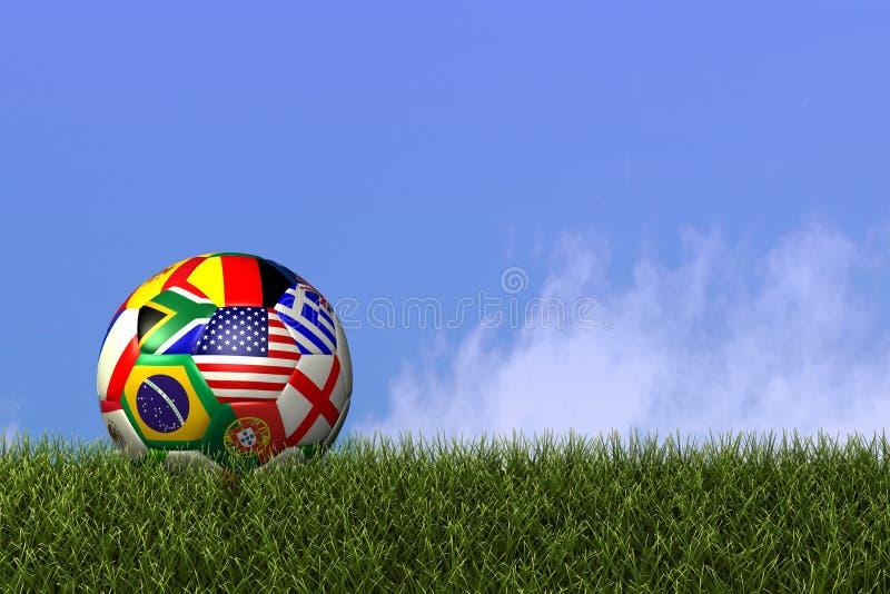 κόσμος ποδοσφαίρου ποδ απεικόνιση αποθεμάτων