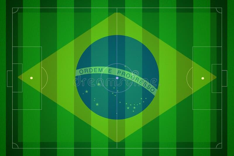 κόσμος ποδοσφαίρου χαρτών πεδίων φλυτζανιών της Βραζιλίας του 2014 ελεύθερη απεικόνιση δικαιώματος