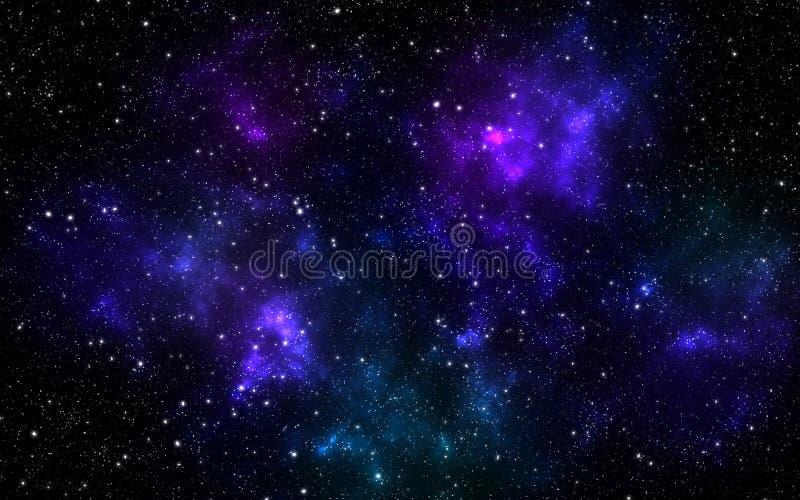 Κόσμος που γεμίζουν με τα αστέρια, νεφέλωμα απεικόνιση αποθεμάτων