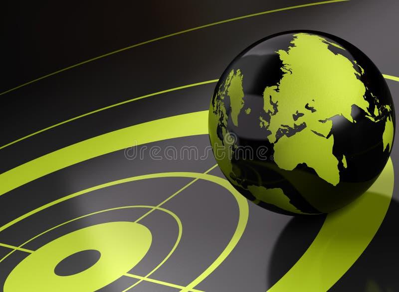 κόσμος στόχων geolocation ανασκόπησ&e ελεύθερη απεικόνιση δικαιώματος