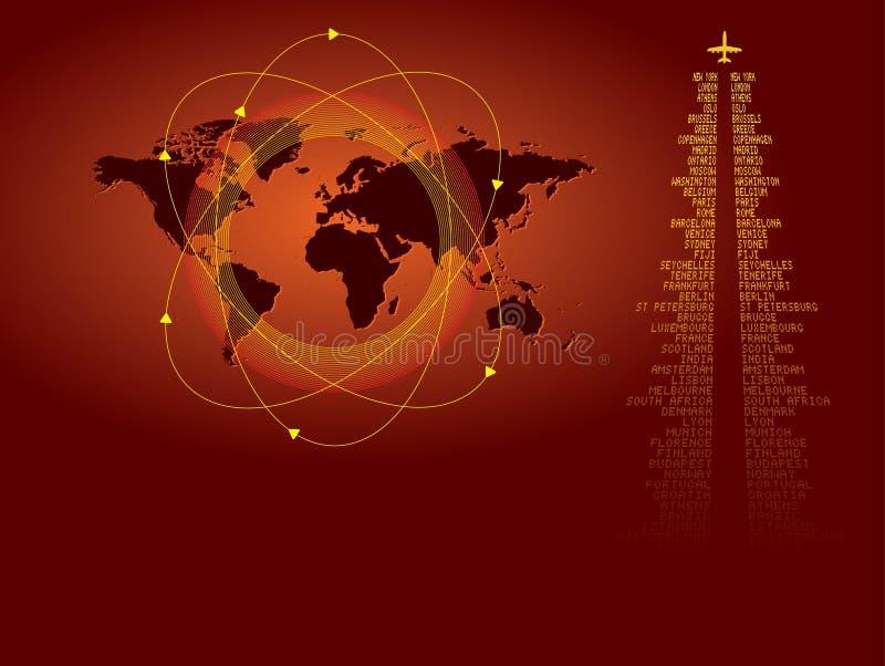 κόσμος ταξιδιού ανασκόπη&sigm ελεύθερη απεικόνιση δικαιώματος