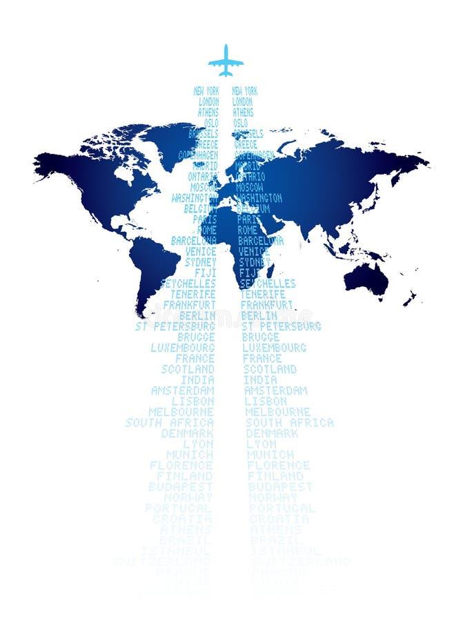 κόσμος ταξιδιού ελεύθερη απεικόνιση δικαιώματος