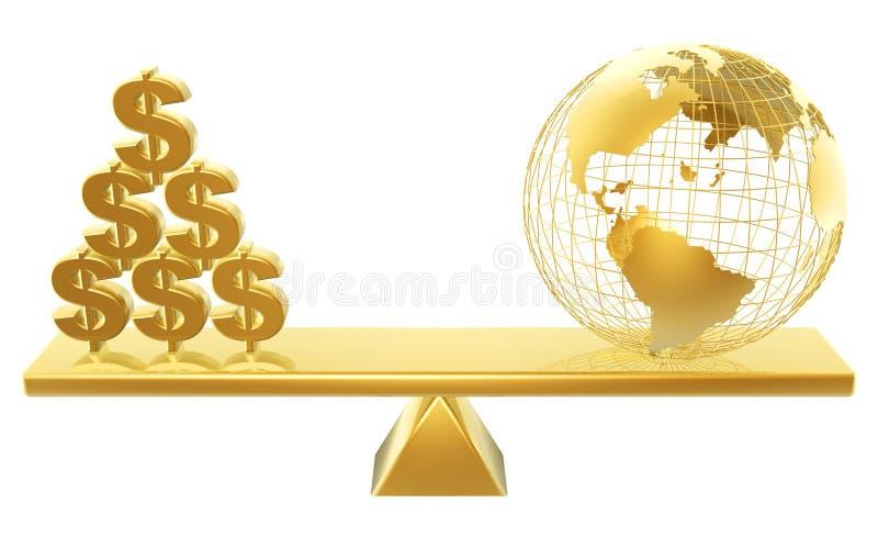 κόσμος τιμών δολαρίων διανυσματική απεικόνιση