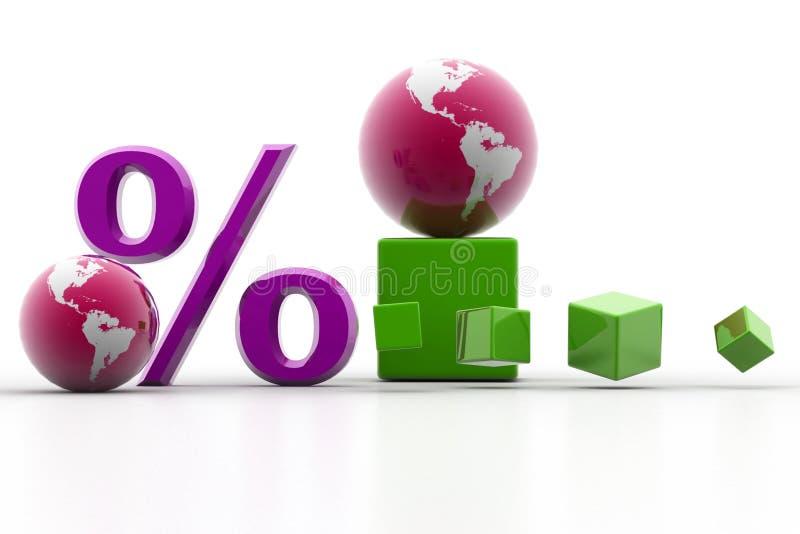 κόσμος τοις εκατό απεικόνιση αποθεμάτων