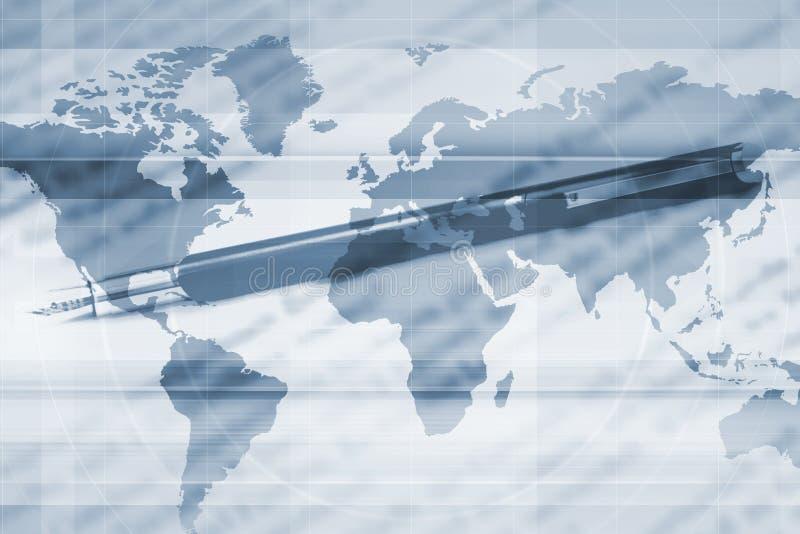 κόσμος χαρτών ανασκόπησης ελεύθερη απεικόνιση δικαιώματος