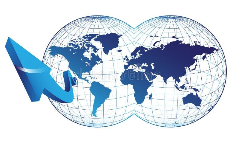 κόσμος χαρτών βελών ελεύθερη απεικόνιση δικαιώματος