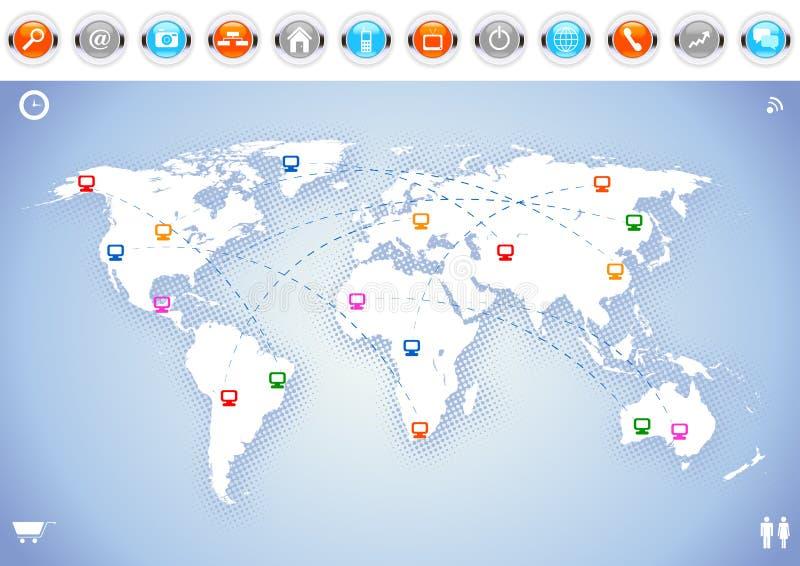 κόσμος χαρτών επικοινωνία& ελεύθερη απεικόνιση δικαιώματος