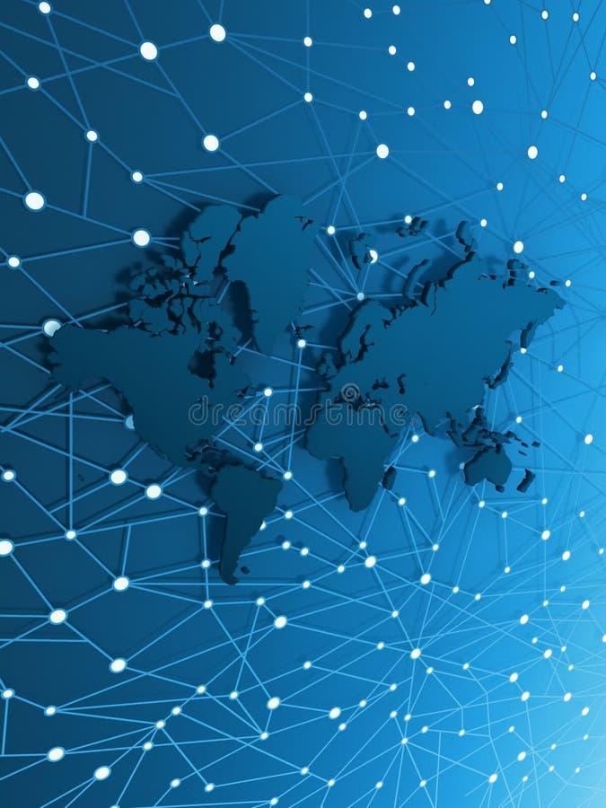 κόσμος χαρτών πληροφοριών &ep διανυσματική απεικόνιση