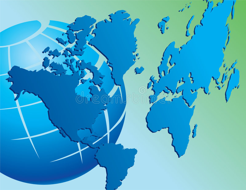 κόσμος χαρτών σφαιρών απεικόνιση αποθεμάτων