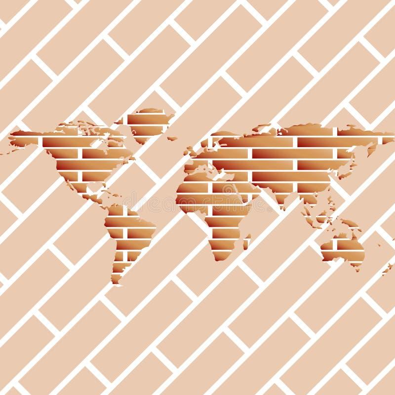 κόσμος χαρτών τούβλων ελεύθερη απεικόνιση δικαιώματος