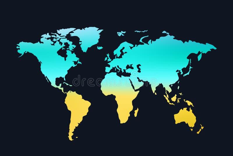 κόσμος 01 χαρτών απεικόνιση αποθεμάτων