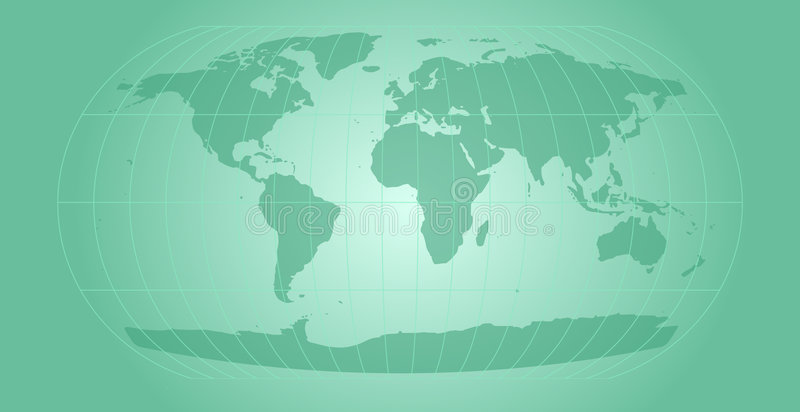 κόσμος χαρτών aqua διανυσματική απεικόνιση