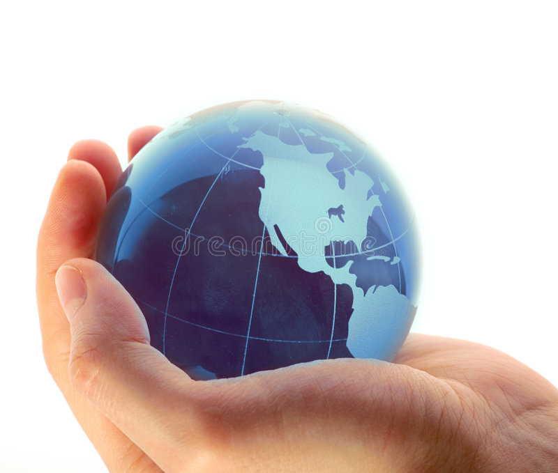 κόσμος χεριών στοκ φωτογραφίες