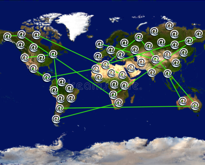 κόσμος connectin απεικόνιση αποθεμάτων