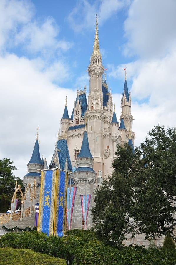 κόσμος Disney Cinderella κάστρων Walt Εκδοτική Στοκ Εικόνες