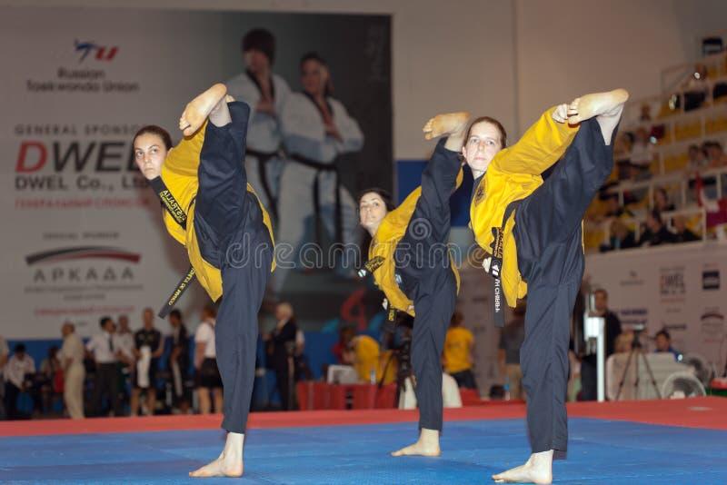 κόσμος taekwondo poomsae πρωταθλήματο&sigma στοκ εικόνα