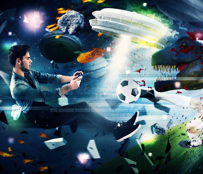 Κόσμος videogames στοκ φωτογραφία