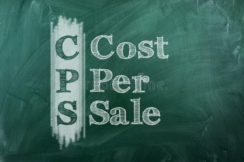 Κόστος ανά πώληση διανυσματική απεικόνιση