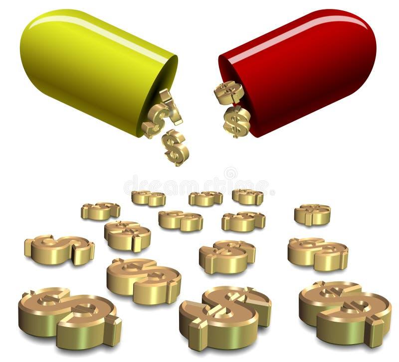 Κόστος ασφάλειας υγείας απεικόνιση αποθεμάτων