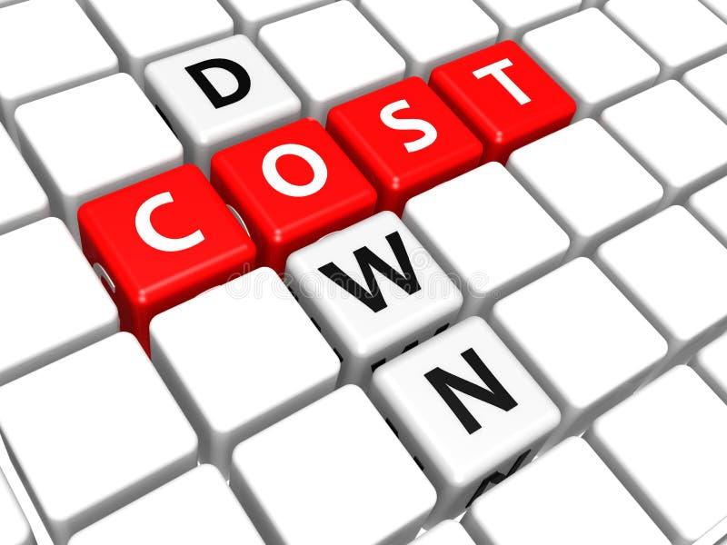 Κόστος κάτω διανυσματική απεικόνιση