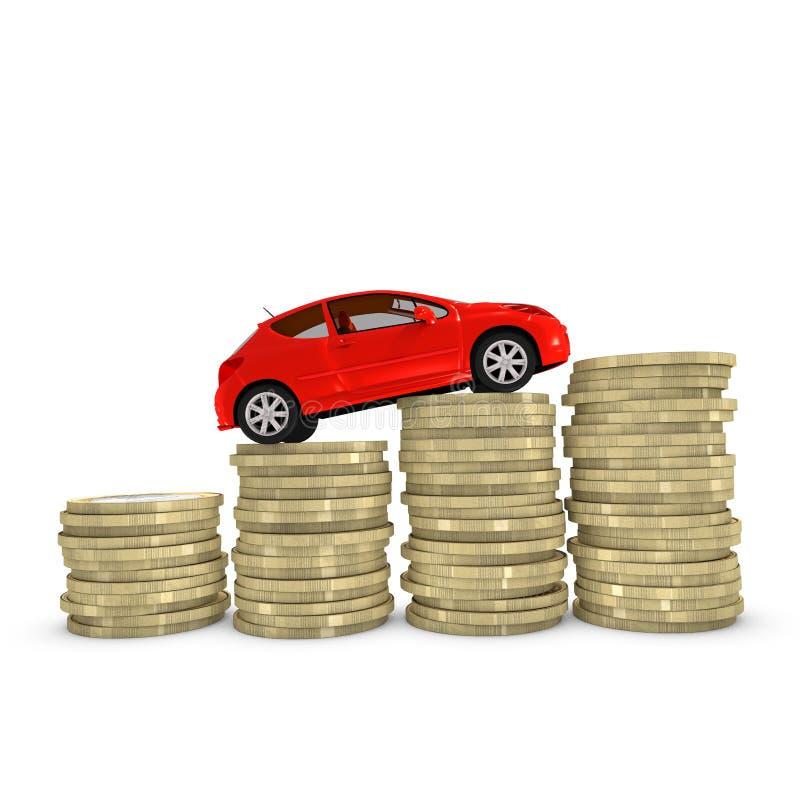 Κόστος και ένα αυτοκίνητο απεικόνιση αποθεμάτων