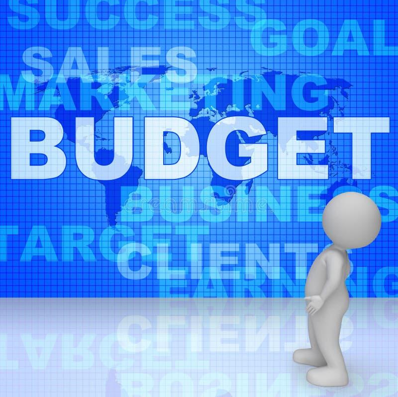 Κόστος και χρήματα Bill μέσων λέξεων προϋπολογισμών τρισδιάστατη απόδοση διανυσματική απεικόνιση
